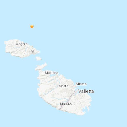 Tremor registered off Gozo