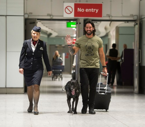 BA stepped in this week to fly a special four-legged friend to the UK to receive an 'Animal OBE'
