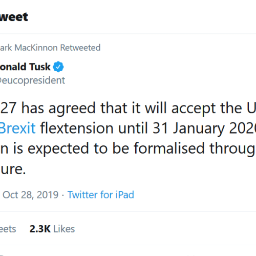 EU has agreed Brexit delay until January 2020