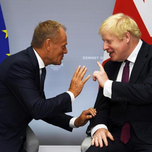 "EC President Donald Tusk accuses British PM Johnson of playing ""stupid blame game"""