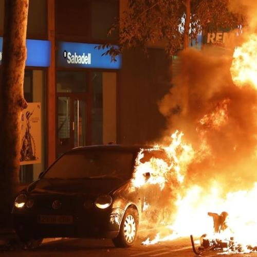 Another night of violence in the streets of Barcelona