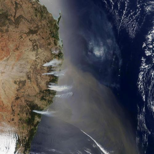 Photo Story: Bushfires in New South Wales as seen from space