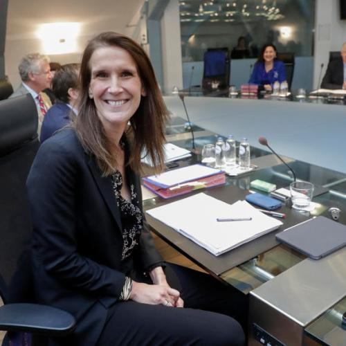 Belgium's new Prime Minister Sophie Wilmes chairs her first council of minister