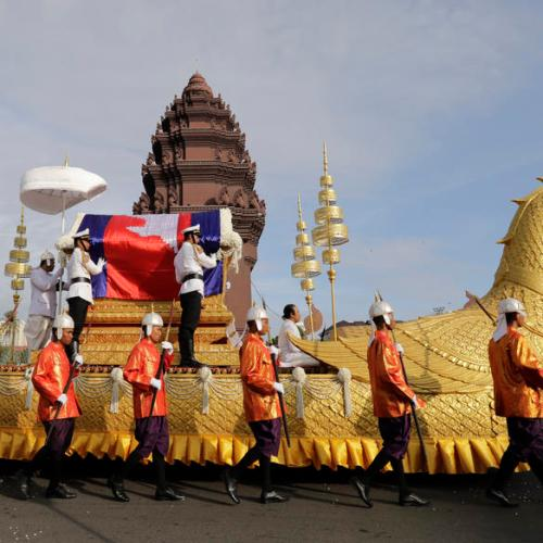 Photo Story: Cremation ceremony of a princess in Cambodia
