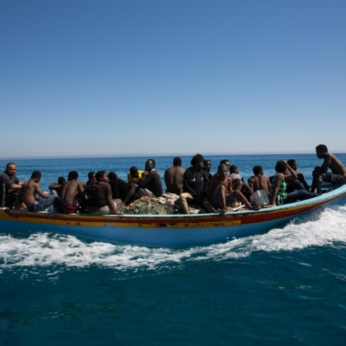 Spike in the number of migrant boats leaving Libya