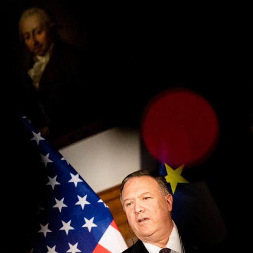Pompeo in Germany for Berlin Wall Anniversary
