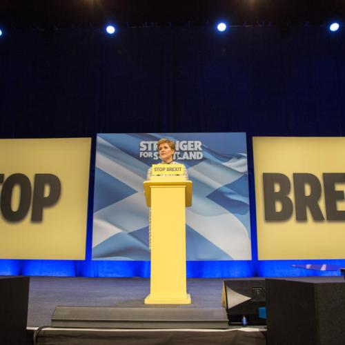 SNP leader Nicola Sturgeon during the launch of the SNP Manifesto