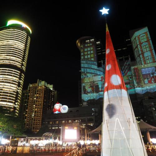 Photo Story: Taipei lights up 3D Christmas tree