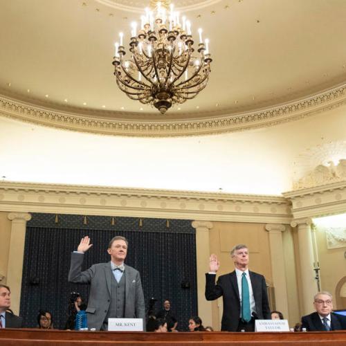 New claims amid public hearing in Trump impeachment inquiry