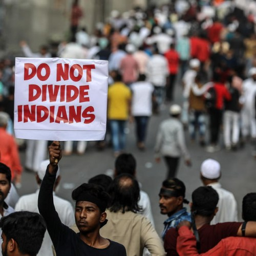 Indian police ban protests