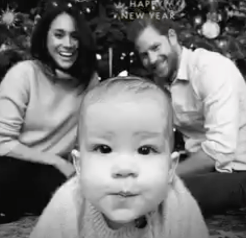 Baby Archie takes centre stage in Duke and Duchess of Sussex Christmas Card