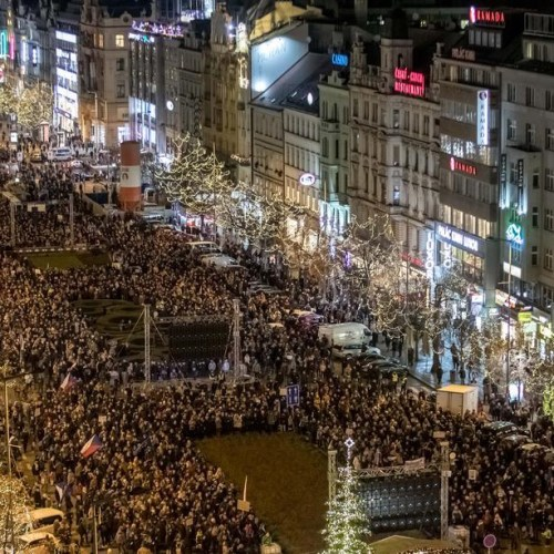 Tens of thousands protest against Czech PM after EU funds conflict of interest case