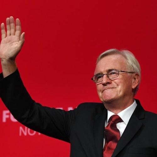 John McDonnell won't form part of UK Labour's shadow cabinet