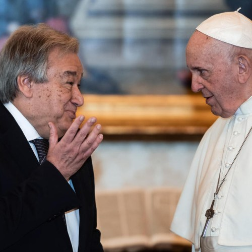 Photo Story: Pope Francis meets UN secretary general