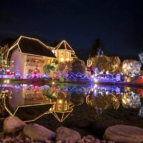 Photo Story: The Christmas traditional decorating of houses in Bad Tatzmannsdorf, Austria