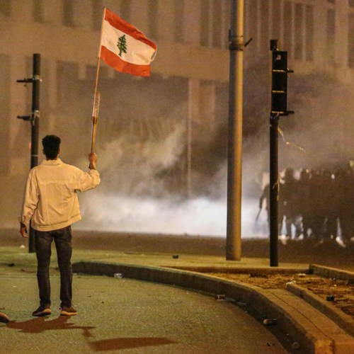 Dozens hurt as police and protesters clash in Beirut