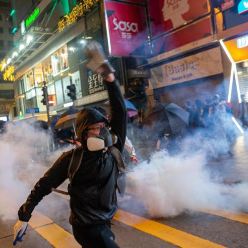 Christmas doesn't stop Hong Kong protests