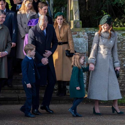 Princess Charlotte and Prince George greet well wishers in Royal Family Christmas celebrations