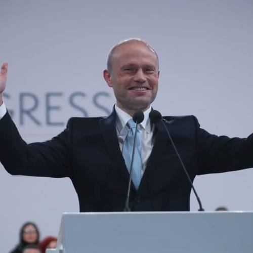 Joseph Muscat delivers his last speech as Malta's Prime Minister