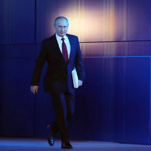 Putin in rare Kremlin appearance as Russia plans to relax restrictions