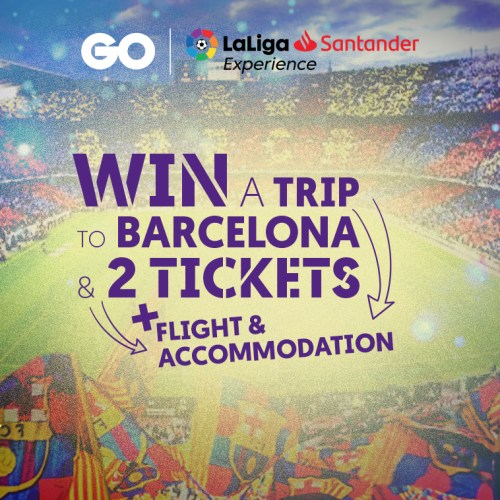 One can win two La Liga Match Tickets with GO