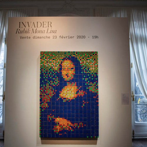 Photo Story: 'Rubik Mona Lisa' sold for 480,200 euros at Paris auction
