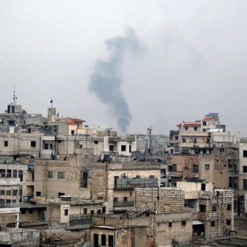 Explosion heard near Aleppo in Syria