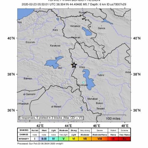 Earthquake of magnitude 5.7 strikes Turkey-Iran border region, nine deaths reported in Turkey