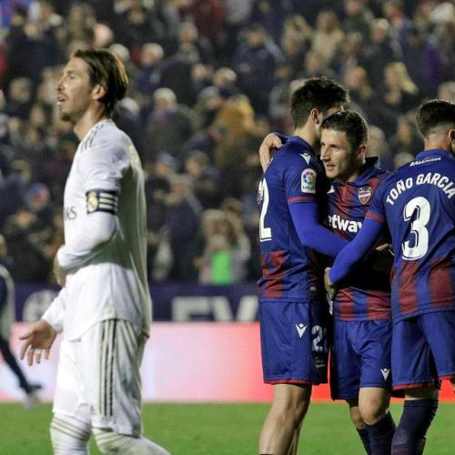 Levante upsets Real Madrid ahead of Champions League match against Manchester City