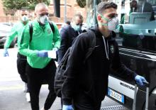 Ludogorets players arrive in Milan amid coronavirus scare