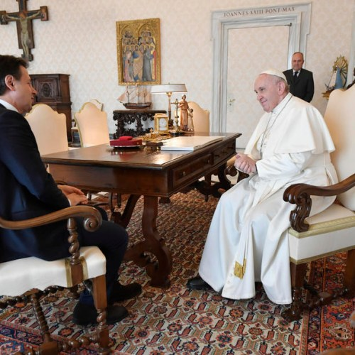 Photo Story: Italian Premier Conte meets Pope Francis