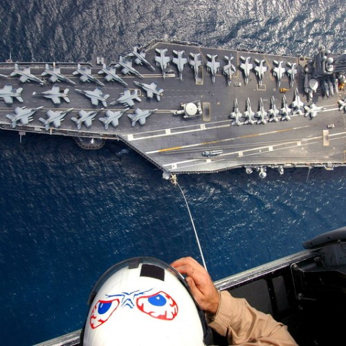 US Carrier Strike Group in the Mediterranean