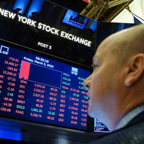 Trading in US shares resumes after sharp fall led to automatic halt in what is being dubbed as 'Black Monday'
