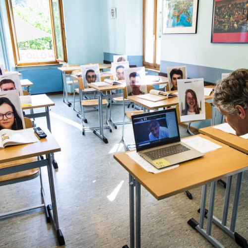 Photo Story:  Schooling in Switzerland during times of pandemic