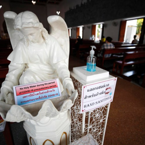 Photo Story: Holy Week amid coronavirus pandemic in Bangkok