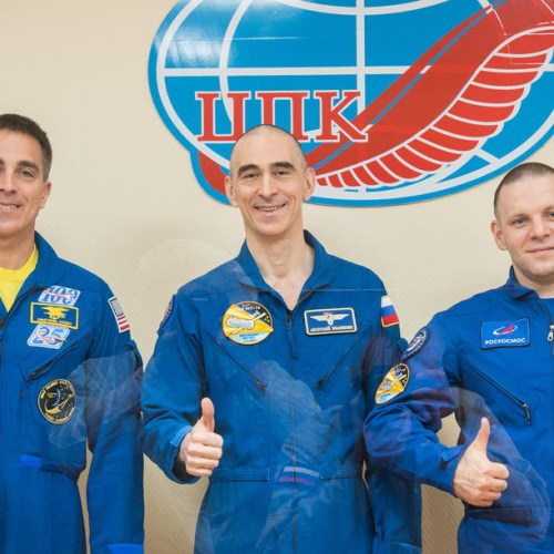 Space station crew blast off for isolation in space