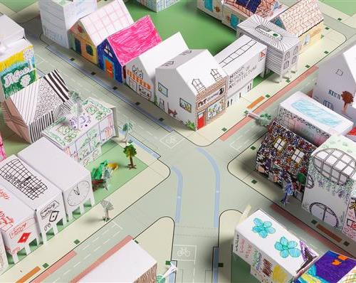 Sprawling green spaces and fantastical skyscrapers feature in children's 'own' designed cities of the future