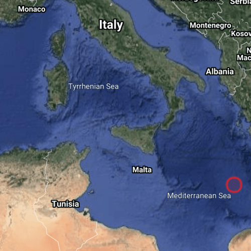 5.8 magnitude earthquake registered in the Central Mediterranean Sea (UPDATE)