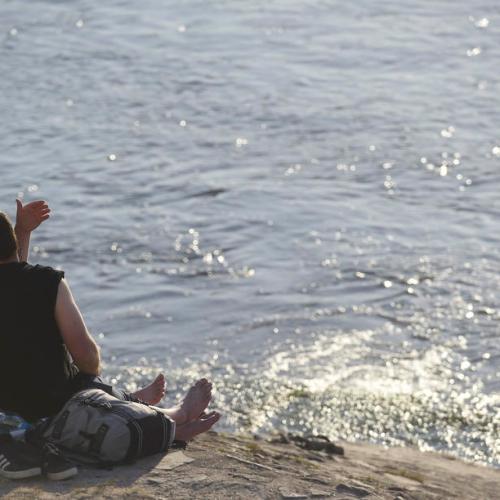 Enjoying the sun and love