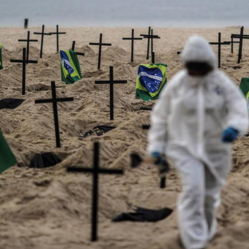 Brazil death toll over took Britain's to become second highest in the world