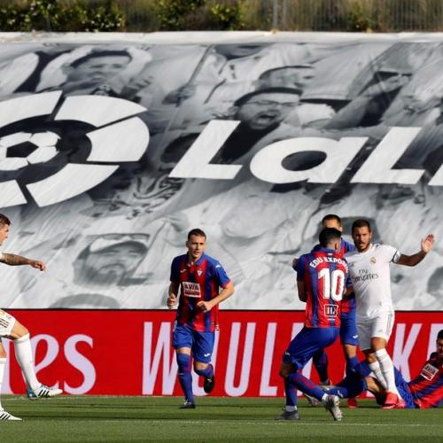 Real Madrid beats Eibar in their first post Covid-19 competitive match