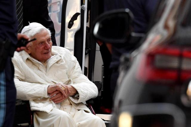 Pope Emeritus Benedict XVI visits his brother in Germany