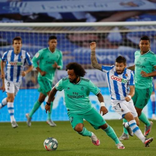 Real Madrid moves to top after beating Real Sociedad