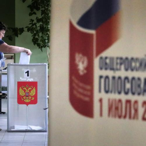 Russian state exit polls show 76% have so far voted for reforms that could extend Putin's rule