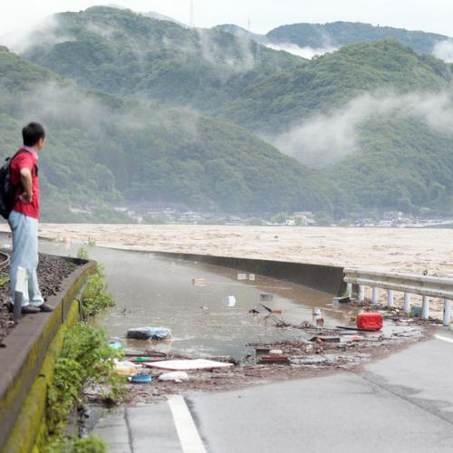Heavy flooding in southwestern Japan