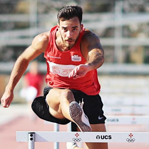 Athletics: Daniel Saliba breaks 110 metres hurdles National Record