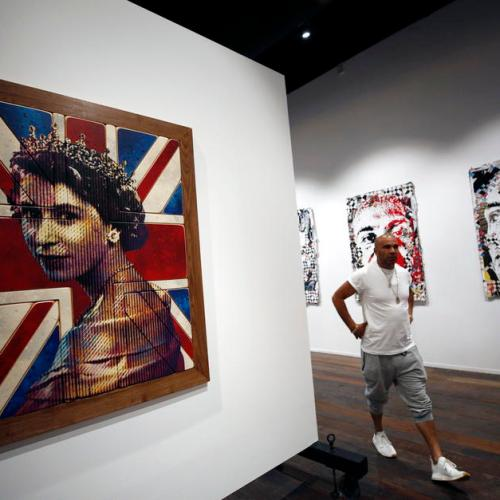 Photo Story: British artist and musician Goldie opens art gallery in Bangkok