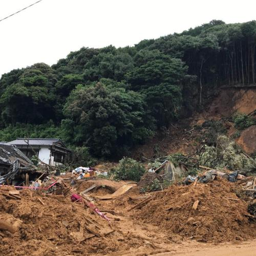 Rescuers resume search for 24 missing in Japan landslides