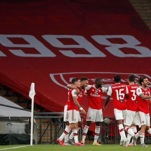Aubameyang double propels Arsenal into FA Cup Final