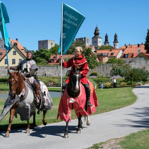 Photo Story: Knights on patrol in Visby, Sweden